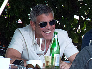 Single Again & Couldn't Look Happier: Clooney Enjoys Italy with Friends | George Clooney