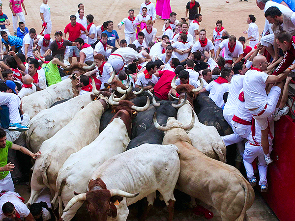 Spain's Running of the Bulls: Several People Injured