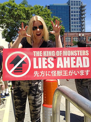 Carrie Keagan's Comic-Con Blog: Rachel Bilson, Aubrey Plaza and Godzilla