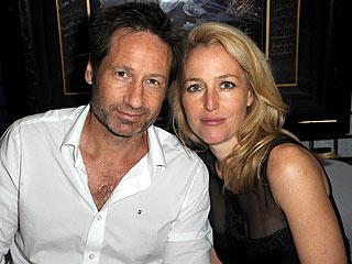 PHOTO: David Duchovny & Gillian Anderson Reunite for X-Files 20th Anniversary | David Duchovny, Gillian Anderson