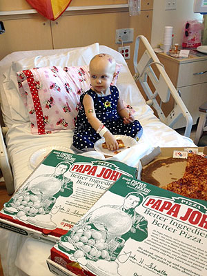 Hazel Hammersley Gets Hospital Pizza Party Thanks to the Internet| Real People Stories