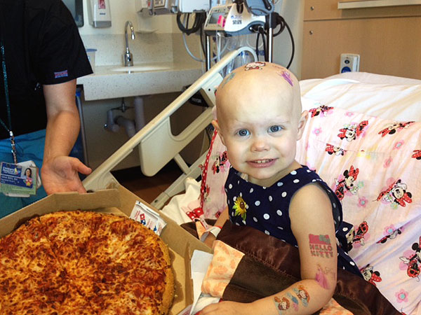 Hazel Hammersley Gets Hospital Pizza Party Thanks to the Internet