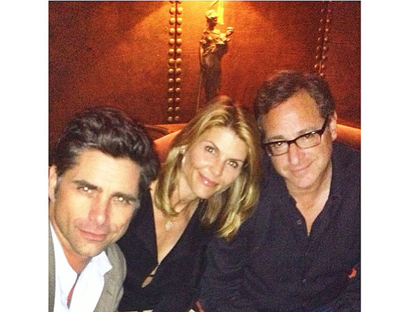 John Stamos and Lori Loughlin Reunite in N.Y.C.| Full House, Bob Saget, John Stamos, Lori Loughlin