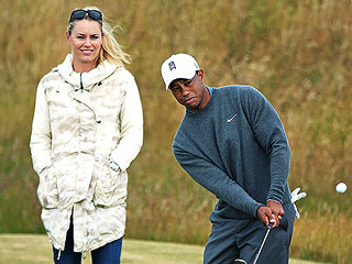 PHOTO: Lindsey Vonn Joins Tiger Woods at Work | Lindsey Vonn, Tiger Woods