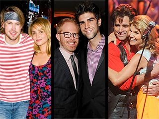 Jesse Tyler Ferguson Marries, Uncle Jesse Returns to the Stage & More from the Weekend | Dianna Agron, Jesse Tyler Ferguson, John Stamos