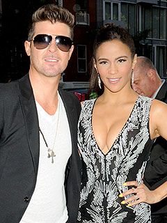 Robin Thicke & Paula Patton's Lovey-Dovey Date Night