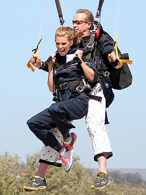 AnnaLynne McCord Skydives for a Cause