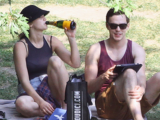 Jennifer Lawrence, Nicholas Hoult Enjoy Champagne, Each Other at Picnic