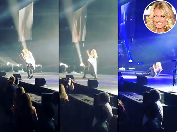 Carrie Underwood Takes a Stiletto-Fueled Stage Tumble