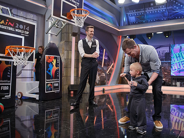 Channing Tatum Schooled by Toddler in Basketball Game| Channing Tatum