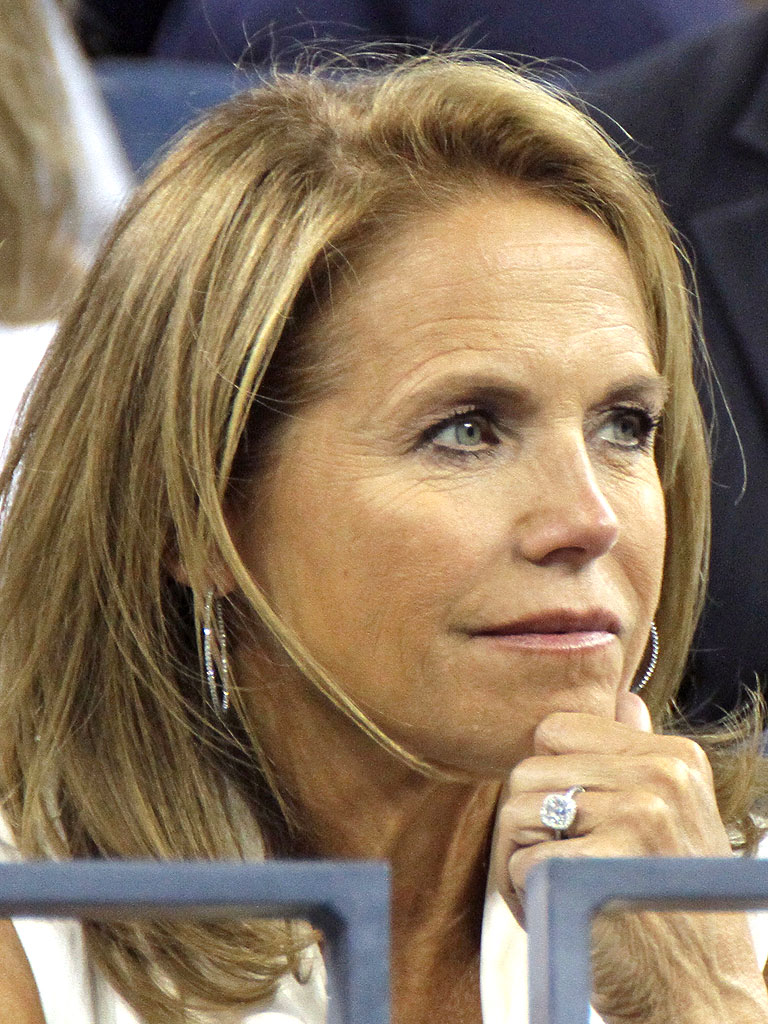 Katie Couric Engaged: Katie Host Flashes Ring at U.S. Open ...  Katie Couric En...