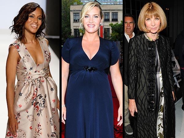 Kate Winslet Pregnant, Fashion Week 2013, Victoria Beckham Clothing Line