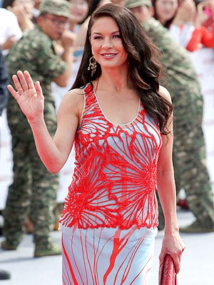 Catherine Zeta-Jones Hits the Red Carpet in China