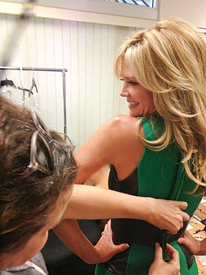 Nancy O'Dell's Emmy Blog: Fittings, Flats and the Perfect Bra| Celebrity Blog, Emmy Awards, Primetime Emmy Awards 2013, Entertainment Tonight, Nancy O'Dell