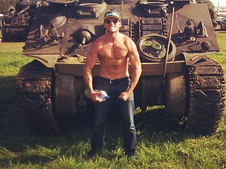 Scott Eastwood Posts Shirtless Pic on Set of New Movie