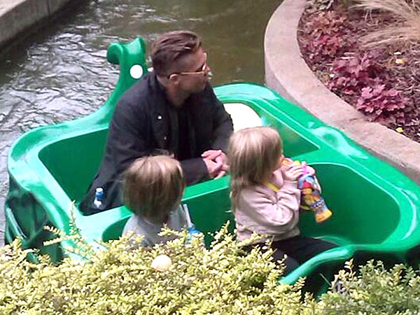 Brad Pitt Takes His Twins, Vivienne and Knox, to Legoland| Brad Pitt, Knox Jolie-Pitt, Vivienne Jolie-Pitt