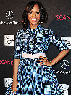 Best Dressed?! Kerry Washington Sports Husband's Sweats on Scandal Set
