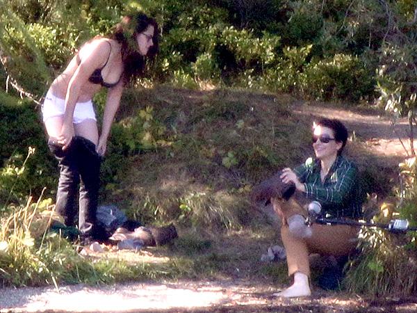 Kristen Stewart and Juliette Binoche Take the Plunge, Get Cozy on Set of  Sils Maria| Juliette Binoche, Kristen Stewart