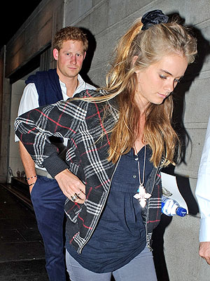 Prince Harry and Girlfriend Cressida Bonas Eat at Byron Hamburgers
