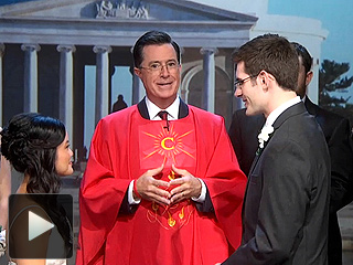 Why Did Stephen Colbert Host a Wedding?