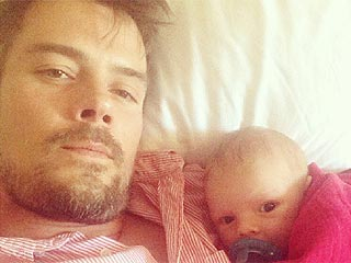 PHOTO: Cutest Fan Ever! Josh Duhamel Introduces Baby Axl to Football