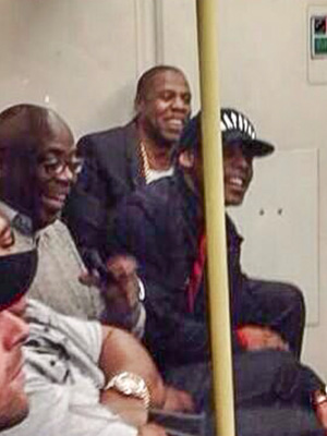 Jay Z Takes the Tube with Coldplay's Chris Martin