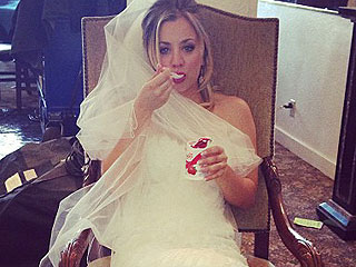 Why Is Kaley Cuoco Already Wearing a Wedding Dress?