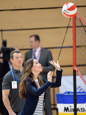 Kate Plays Volleyball in Sky-High Wedges| The British Royals, The Royals, Kate Middleton
