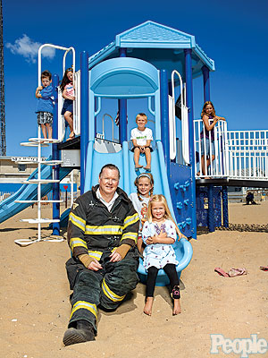 New Jersey Firefighter Builds Playgrounds Honoring Newtown Shooting Victims