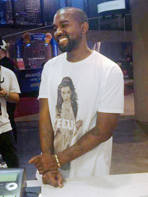 Kim Kardashian Shirt Worn by Kanye West: Photo