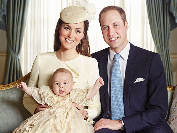 See Prince William, Kate and Prince George's Official Portrait | Kate Middleton, Prince William