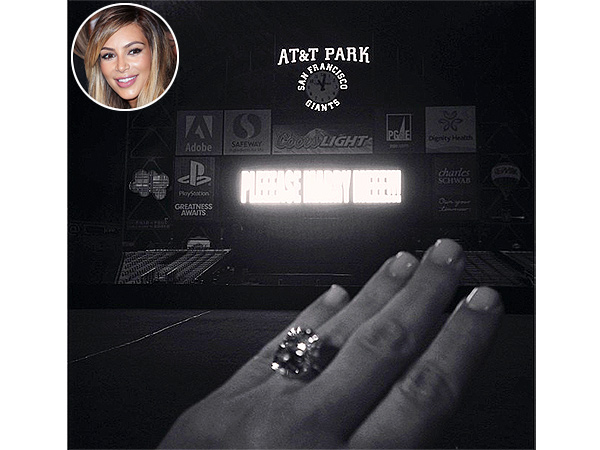 Kim Kardashian engagement ring from Kanye West