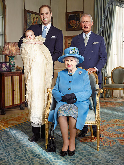 Royal Christening: Prince William, Kate and Prince George Pose for Official Portrait| The British Royals, The Royals, Carole Middleton, James Middleton, Kate Middleton, Michael Middleton, Pippa Middleton, Prince Charles, Prince George, Prince William, Queen Elizabeth, Individual Class