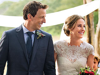 See Seth Meyers & Alexi Ashe Wedding Photo