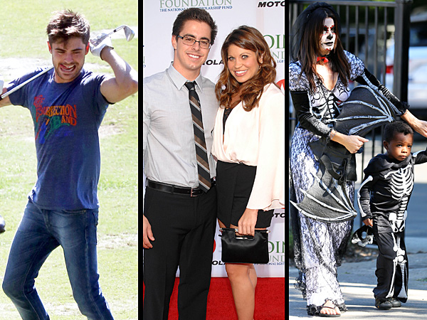 Sandra Bullock Dresses Up for Halloween, Zac Efron Celebrates Birthday