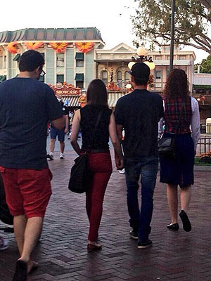 Back Together? Zac Efron and Lily Collins Hold Hands at Disneyland