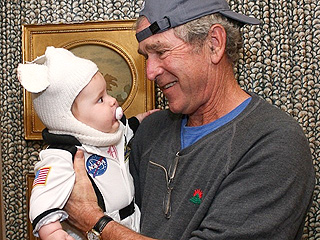 PHOTO: George W. Bush Trick-or-Treats with His Adorable Granddaughter