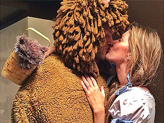See Tom Brady and Gisele Bündchen Dressed Up (and Kissing!) for Halloween