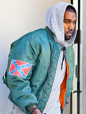 Kanye West Wears a Confederate Flag, Says 'React How You Want'