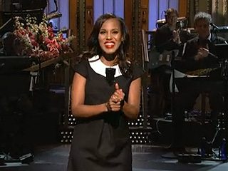 VIDEO: Kerry Washington Hosts SNL, Satirizing Its Diversity Issue