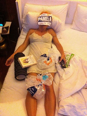 Pamela Anderson Shows the Aftermath of Running a Marathon: 'Ouch!'