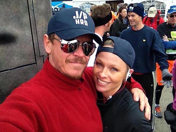 Pamela Anderson at NYC Marathon: Runs with Brother
