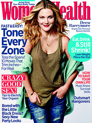 Drew Barrymore Women's Health Cover