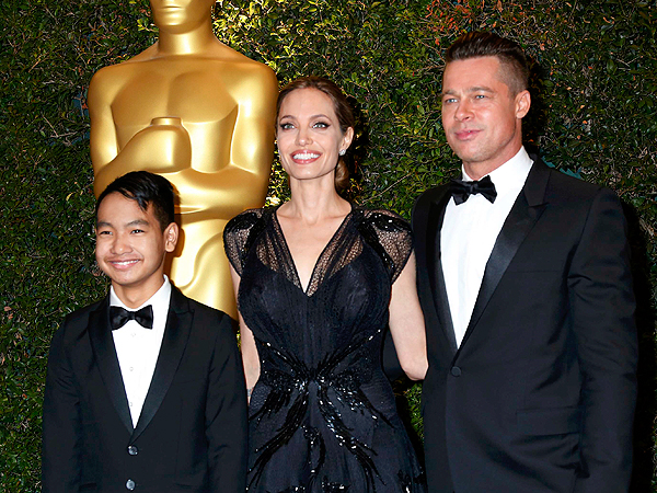 Angelina Jolie: 'My Family Makes Everything Possible'| Academy Awards, Angelina Jolie, Brad Pitt, Emma Thompson, Maddox Jolie-Pitt