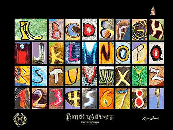 Kjell Bloch Sandved Creates 'Butterfly Alphabet'