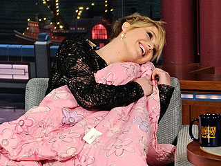Jennifer Lawrence and David Letterman Get Cozy Under Blanket (VIDEO)