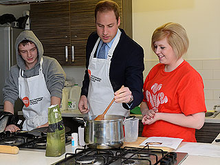 Prince William Kisses George Goodbye, Pops into Homeless Shelter Kitchen