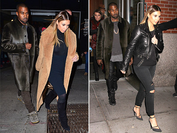Kim Kardashian Kanye West coats