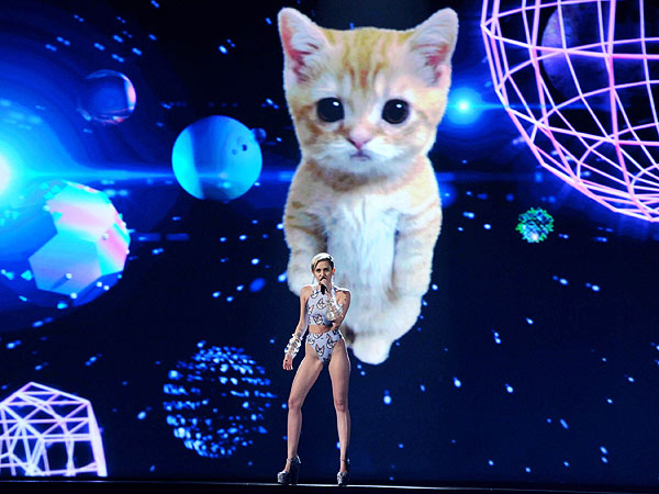 The AMA's 7 Most Oddball Moments: Miley's Cat, Katy the Geisha and More