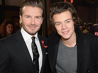 British Babes! David Beckham & Harry Styles Hit the Red Carpet Together